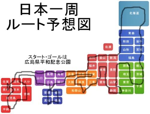 日本一周ルート図